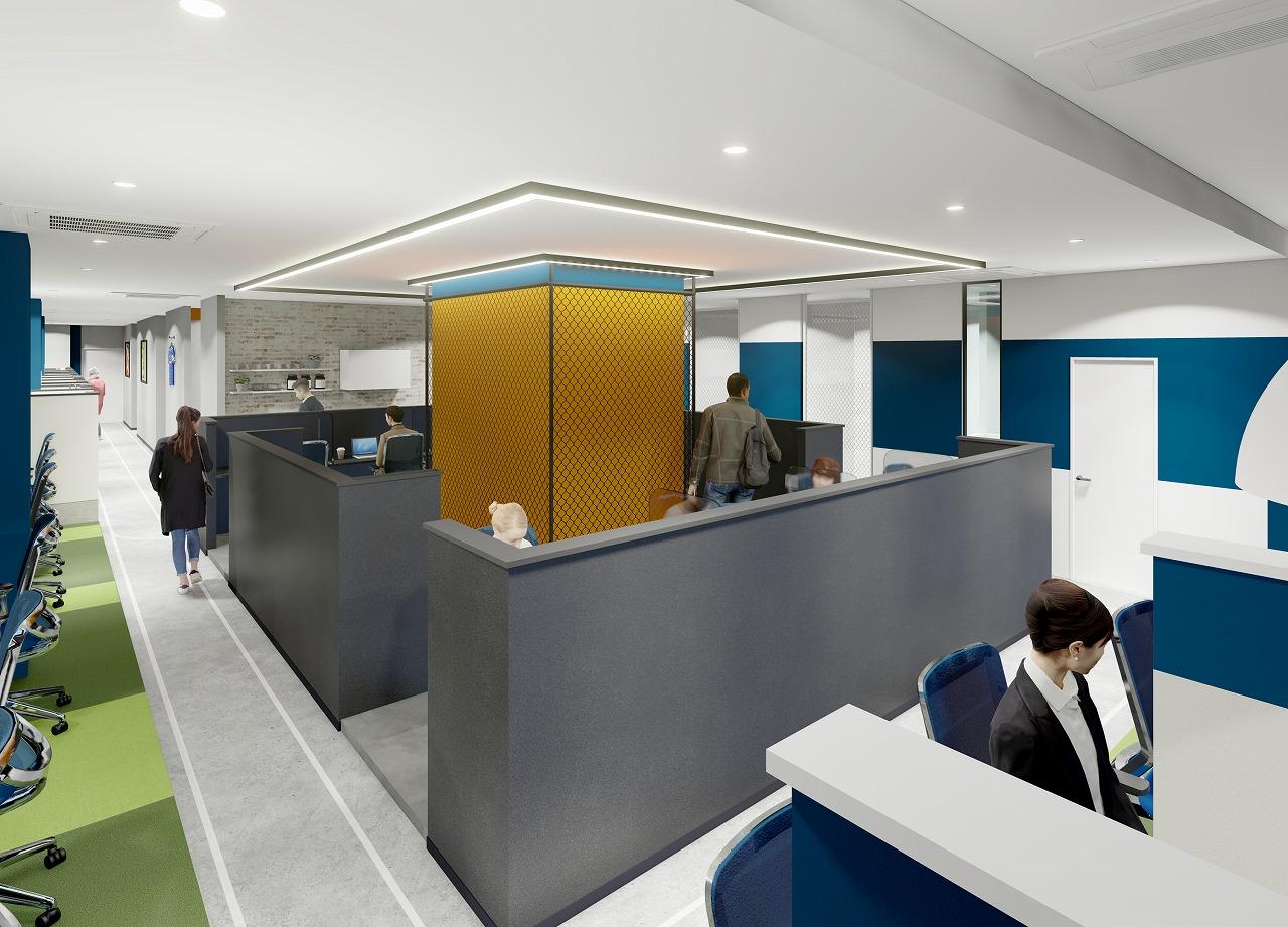 春は働き方も一新! ニューノーマルにおけるテレワークを快適に 新横浜に大型シェアオフィスが誕生! 『BIZcomfort 新横浜』 2021 年 3 月15 日 オープン